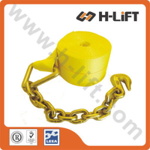 Polyester Winch Strap with Chain Anchor Assembly pictures & photos