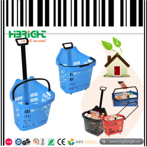 45L Superbasket Plastic Rolling Basket with Wheel pictures & photos
