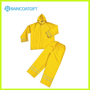 0.35mm 3PCS PVC/Polyester Rainsuits pictures & photos