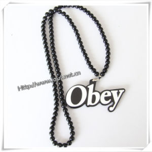 IP Hop Wood Fashion Pendant with 36 Inches Wood Beaded Chain (IO-wn014) pictures & photos