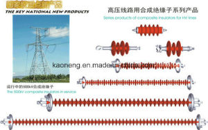 Advanced Configuration Power Transmission Tower, Deadend Composite Insulator High Voltage Electric Fence Composite Insulator pictures & photos