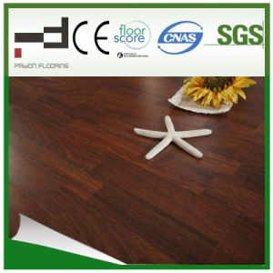Classical HDF Glossy Light Brown Laminated Flooring pictures & photos