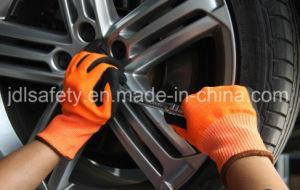 Hi-Vis Orange Safety Work Glove with Sandy Nitrile (ND8061) pictures & photos