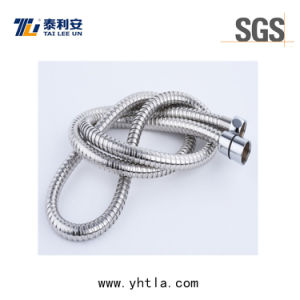 Flexible Stainless Steel Double Lock Shower Water Hose for Connecting to Shower Head (L1012-S) pictures & photos