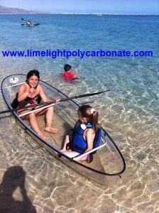 Clear Bottom Kayak, 100% Transparent Kayak, 6mm PC Solid Sheet Heat Forming Clear Kayak, Polycarbonate Kayak, Transparent Kayak, Touring Kayak, PC Kayak Canoe