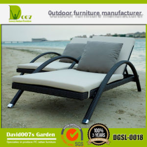 New Design Garden Rattan Outdoor Furniture Sun Lounger Chaise Lounge pictures & photos