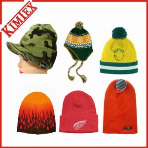Hot Sale Custom Knitted Acrylic Winter Hat (kimtex-411) pictures & photos