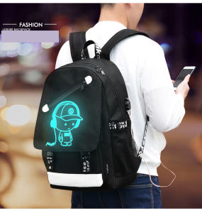 Luminous Backpack with One Inside USB Datacabl pictures & photos