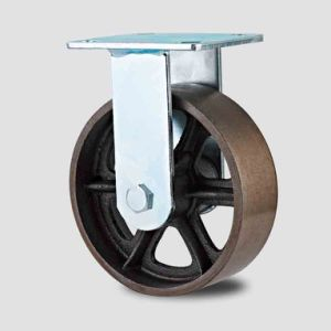 H11 Heavy Duty Fixed Type Double Ball Bearing V Mode Cast Iron Wheel Caster pictures & photos