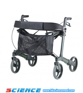 Aluminum Walking Aid Rollator Disabled People Rollator Sc-806 pictures & photos