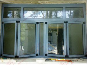 High Quality Aluminum Bi-Folding Window with Top Fanlight (BHA-FW12) pictures & photos