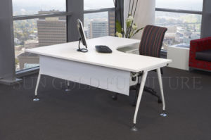 White Wooden Top and Metal Frame Office Desk (SZ-OD221) pictures & photos