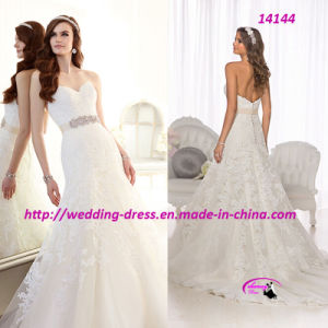 Princess Cathedral Train Wedding Bridal Dress pictures & photos