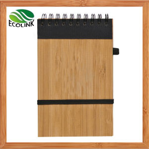 Bamboo Cover Spiral Note Book & Diary pictures & photos