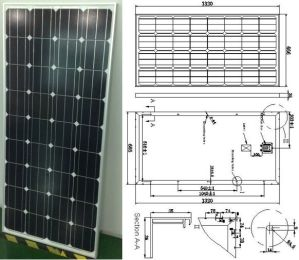 18V 140W 145W Monocrystalline Solar Panel PV Module with Ce Approved pictures & photos