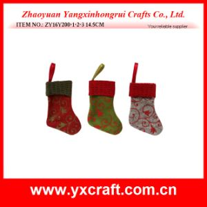 Christmas Decoration (ZY16Y200-1-2-3 14.5CM) Christmas Color Sock Christmas Decorated pictures & photos