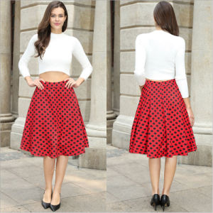 Contemporary Constrast Ploka Dots Broom Skirt pictures & photos