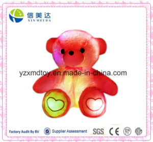 Plush Electronic LED Light Induction Loving Heart Bear Toy (XDT-035S) pictures & photos