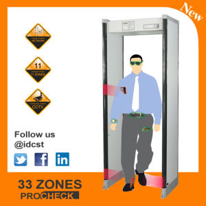 Waterproof Procheck 3 Walk Through Metal Detector for Security Inspection with 33 Zones