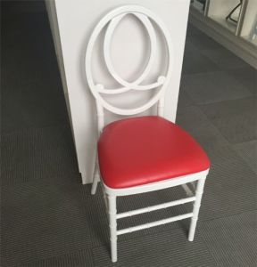 White Resin Plastic Phoenix Chair with Red Cushion pictures & photos