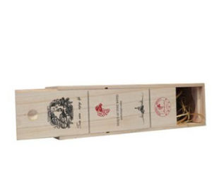 OEM Cheap Unfinished Single Bottle Wooden Wine Gift Box pictures & photos