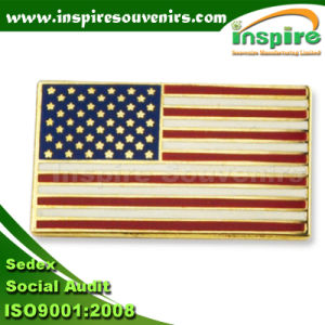 Epoxy Oil-Filled Flag Pin for Gift (B 604) pictures & photos