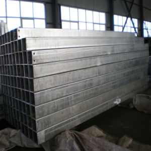100X200X6mm Galvanized Rectangular Tube with Holes pictures & photos