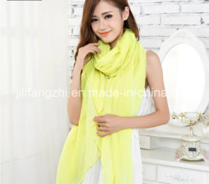 100% Polyester / Dyeing / Twist / Scarf / Voile Fabric