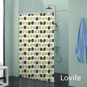 Shower Curtain Bathroom Waterproof Curtain (JG-234) pictures & photos