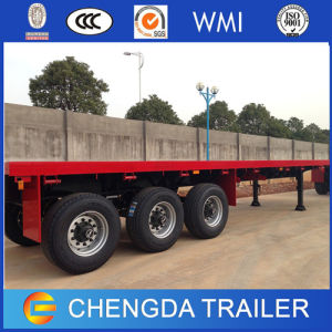 40FT 3 Axles Flatbed Container Semi Trailer pictures & photos