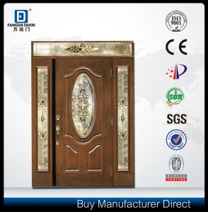 High End Wood Look Classic Hand Made Fiberglass Front Door pictures & photos