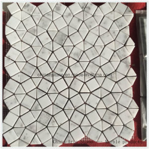 Chinese Local White Marble Mosaic for Wall pictures & photos