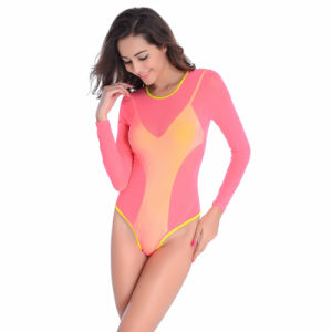 2017 New One PCS Pink Swimming Suit pictures & photos