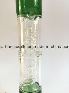 16inch Glass Water Pipes Smoking pipe with Swirl Percs pictures & photos