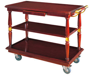 Liquor Trolley with Wooden for Hotel (FW-70A) pictures & photos