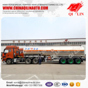 Single Compartment 42000 Liters Aluminum Alloy Oil Tanker for Sale pictures & photos
