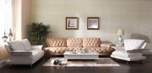 Italian Design Living Room Luxury Nubuck Leather Sofa Set pictures & photos