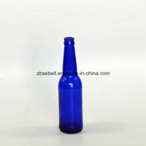 Blue Color Glass Beer Bottle, Glass Bottle pictures & photos