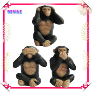 Polyresin Animal Monkey Statue for Decoration Souvenir Crafts