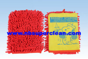 Microfiber Chenille Car Wash Mitt (CN1415) pictures & photos