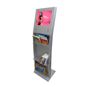 """17"""" Interactive Kiosk, Touch Screen LCD Computer, Standing PC Station (FSPT17L04)"""