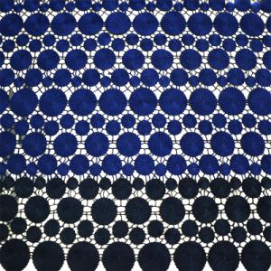 Hot Sell Double Color 100% Polyester Embroidery Garment Lace Fabric pictures & photos