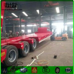 China Factory 50ton 3 Axle BPW Axle Lowbed Trailer for Sale pictures & photos