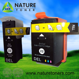 No. 22bk and No. 22color Compatible Ink Cartridge for DELL Printer pictures & photos