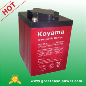 AGM Deep Cycle Battery 225ah 6V pictures & photos