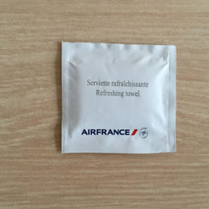 OEM Disposable Single Airplane Wet Towel pictures & photos