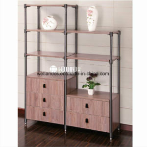 China Manufacture DIY Living Room Display Steel-Wooden Furniture pictures & photos