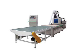 Wood Work Use CNC Router with Loading and Unloading Parts pictures & photos