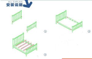Wood Children Bed Children Cots European Style Bed (M-X1037) pictures & photos