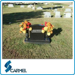 Shanxi Black Granite American Style Cemetery Headstone